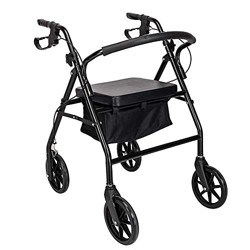 Review Of SSLine Rollator Walker with Seat-Rolling Walker with 8-inch Wheels,Foldable Padded Seat an...