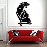 XCSJX Calcomanía de Pared de Jaguar Enojado, Vinilo Impermeable, Cartel de Animales, patrón, Pegatina de Pared, Jaguar, Sala de Estar, casa, decoración del hogar, Mural, 147x97cm