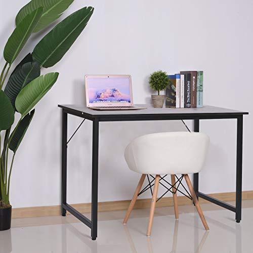 HOMCOM Escritorio para Hogar Oficina Mesa de Ordenador Mesa de Estudio con Pies Ajustables Mobiliario Simple de Oficina 120x60x73cm Carga 70kg