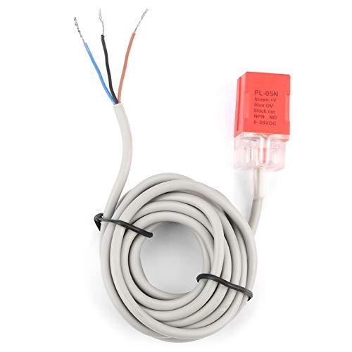 LANTRO JS - Interruptor de sensor de proximidad PL-05N NPN sensor inductivo normalmente abierto Sensor de interruptor de proximidad DC 12-24V