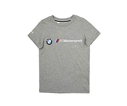 PUMA BMW M Motorsport Logo Kinder T-Shirt Medium Gray Heather 128