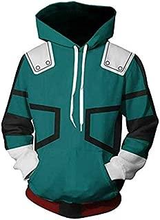 USEN My Hero Academia Shoto Todoroki Hoodie Cosplay Costume Jacket Sweatshirt Pullover