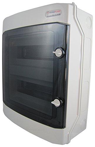 Sicherungskasten Aufputz IP65 Feuchtraum Gehäuse Verteiler Kleinverteiler 2 reihig 24 Module (2-reihig 24 Module)
