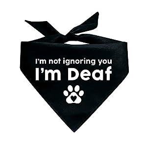 Tees & Tails I'm Not Ignoring You I'm Deaf Triangle Dog Bandana (Assorted Colors)