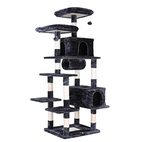 POTBY 80' Multi-Level Cat Tree XXL Tall Play House Climber Activity Centre Tower Stand Furniture,...