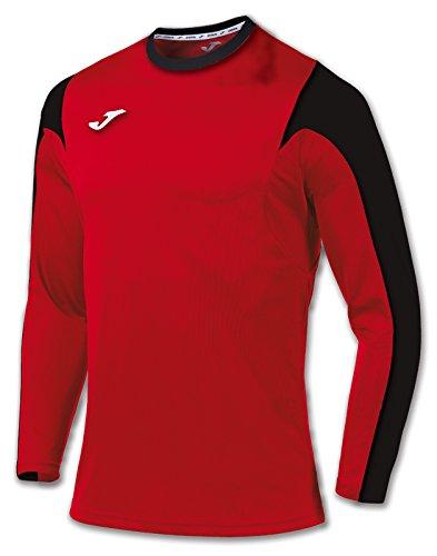 Joma Estadio Camiseta de Juego Manga Larga, Hombre, Multicolor (rojo/negro), L