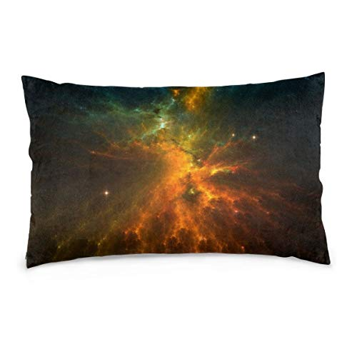 XIEXING Pillow Case Starry Sky Printed Pillow Cases Soft Chair Seat Bedding Pillowcase Coffee Shop Home Decor 16'' X24