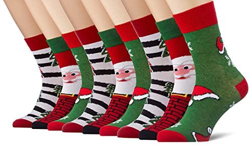 Urban Classics Unisex Stripe Santa Christmas 3-Pack Socken, Multicolor, 47-50