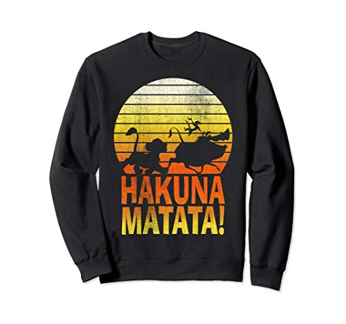 Disney Lion King Hakuna Matata Sunset Profile Sweatshirt