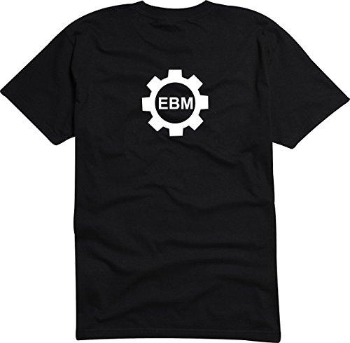 Black Dragon - T -Shirt Herren - Party - Funshirt - Fasching schwarz - Ebm Zahnrad - XL