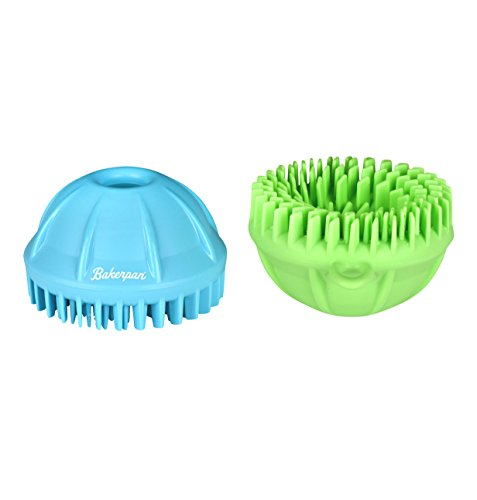 Bakerpan Silicone Fruit and Vegetable Cleaning Brush with Finger Grip - Set of 2
