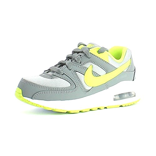 Nike Air Max Command Flex (PS), Scarpe da Corsa Bambino, Gris (Cool Grey/Volt-Wolf Grey), 31 1/2