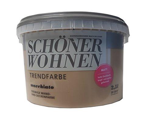 2,5 Liter SCHÖNER WOHNEN FARBE Trendfarbe »Macchiato«, matt