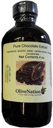 OliveNation Chocolate Extract for Baking, Rich Chocolate Flavoring for Cakes, Cookies, PG Free, Non-GMO, Gluten Free, Kosher, Vegan - 4 ounces