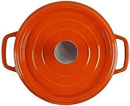 Praktisch Casserole gerechten braadpan pot met deksel, email gietijzeren anti-stick koekenpan Nederlandse oven, 24 cm 4 li...
