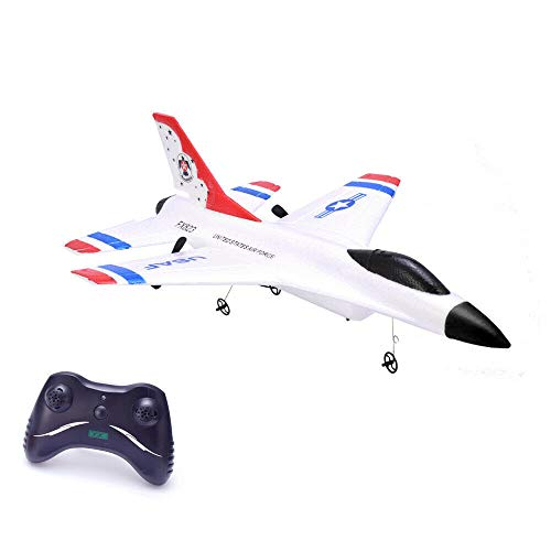 Remote Control Airplane,2.4GHz Radio Control Aircraft with Built in Gyro,RC Plane for Kids Boys Adult Beginner (red)