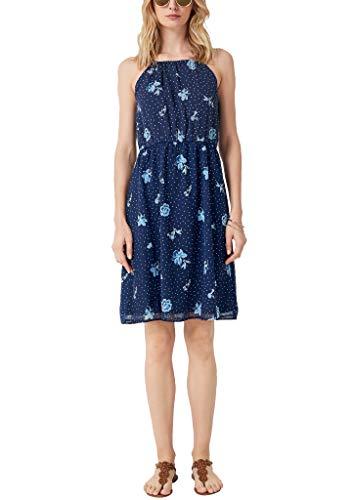 s.Oliver Damen 05.905.82.8053 Kleid, Blau (Blue AOP 56b0), (Herstellergröße: 36)