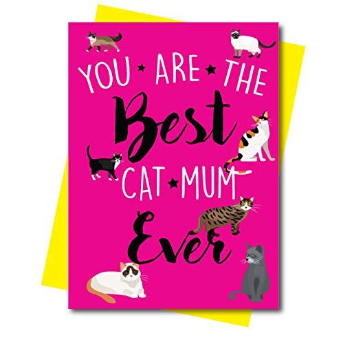 Lustige Geburtstagskarte zum Muttertag – Katze Mama M3