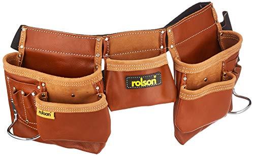 Rolson 68878 Werkzeugtasche für Doppelwerkzeug, Schwarz
