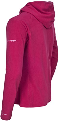 Trespass Marathon, Cerise, M, Ultraleichte Microfleece Jacke mit Kapuze 130g/m² mit Daumenschlaufen für Damen, Medium, Rosa / Pink