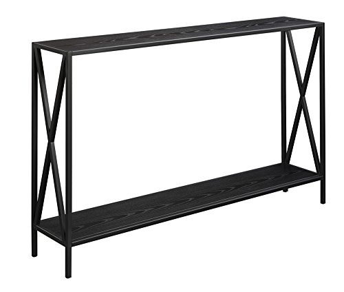 Convenience Concepts Tucson Console Table, Barnwood / Black