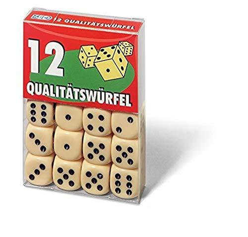 Ravensburger Spielkarten 27097 - 12 Qualitätswürfel in Klarsichtbox