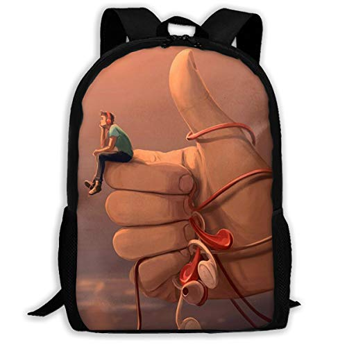 SARA NELL School Backpack Boy Love Music You Are The Best Bookbag Casual Travel Bag For Teen Boys Girls