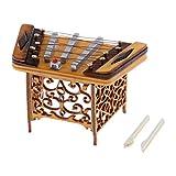 Almencla Miniature Yangqin Dulcimer Mini Modèle Instrument De Musique Bois...