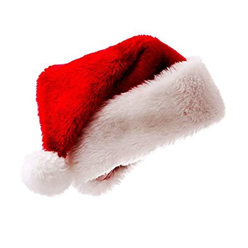 meioro Weihnachtsmütze Nikolausmütze Luxus Plüsch Hut Kind Erwachsene Hut Weihnachten Familie Partyzubehör Mütze WeihnachtTeenager(zwischen 6-14 Jahren)×1pc
