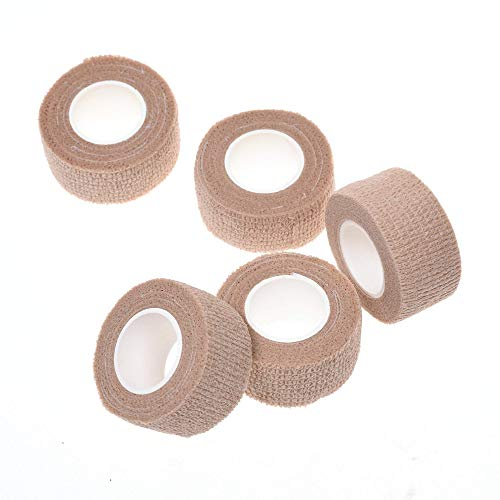 COSMOS 5 Rolls Elastic Self Adhesive Bandage Finger Tape, 1 Inch Wide