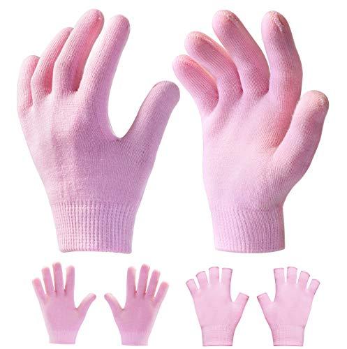 Sumifun Moisturizing Gloves, Handmaske mit Moisturizing Lotion für trockene und rissige Hände, Beauty Spa Handschuhe für die Handpflege Regenerierendes pflegendes Peeling (2 Paare)