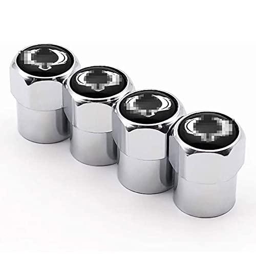 NeumáTicos Tapas Para VáLvulas Para Ssangyong, Tapas de VáLvula de Aluminio Con Anillo De Sellado, Tapas Antipolvo NeumáTico de Coche, Accesorios Para Tapas de VáLvulas Antirrobo