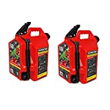 SureCan Self Venting Easy Pour 5 Gallon Flow Control Gas Container (2 Pack)