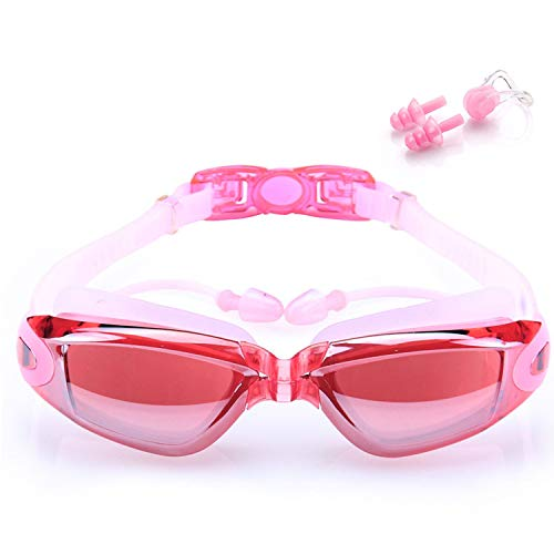 Gafas de Natación, VJK Gafas Anti Rayos UV Para Hombres Mujeres Adultos Jóvenes Niños Niño - Lo Mejor Para Hombres, Mujeres, Niños - Ideal para Todo Tipo de Agua, Piscina, Deportes Acuáticos - Rosa
