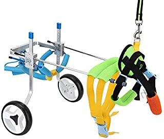 Fdit Adjustable Pet Dog Wheelchair Cart Disabled Dog Assisted Walk Car Pet Hind Leg Exercise Car for Hind Legs Rehabilitation Dog Walk