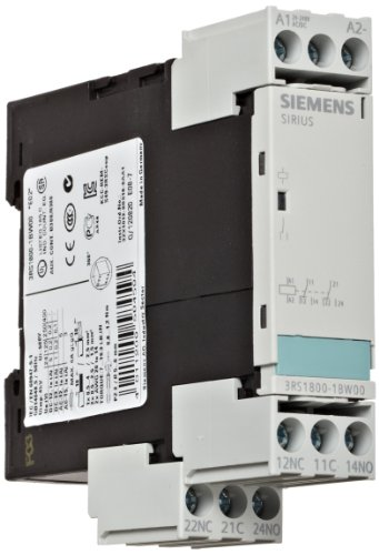 Siemens 3RS18 00-1BW00 Interface Relay, Rugged Industrial Enclosure, Screw Terminal, 22.5mm Width, 2 CO Contacts, 24-240VAC/VDC Control Supply Voltage