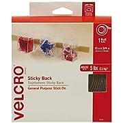 Velcro Brand VEK90083 Tiras de Velcro con la Parte de Atrás Adhesiva