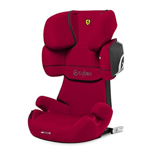 CYBEX Silver Kinder-Autositz Solution X2-Fix Scuderia Ferrari, Für Autos mit und ohne ISOFIX, Gruppe 2/3 (15-36 kg), Ab ca. 3 bis ca. 12 Jahre, Racing Red