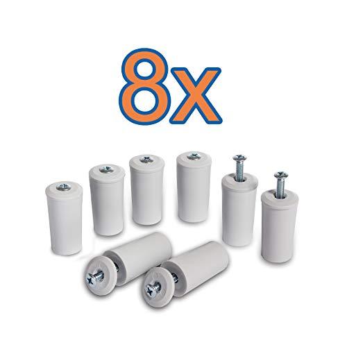 8 x Anschlagstopper für Rollladen Anschlagpuffer Rolladenstopper 40 mm, grau