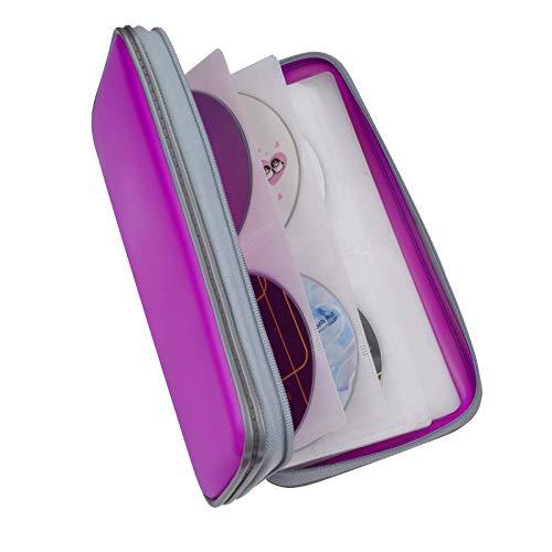 Fanspack porta CD 80 disch plastica custodie DVD custodia CD borsa CD porta CD casa porta cd auto
