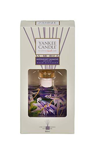 Yankee Candle Midnight Jasmine Firma Reed Diffusori, Vetro, Porpora