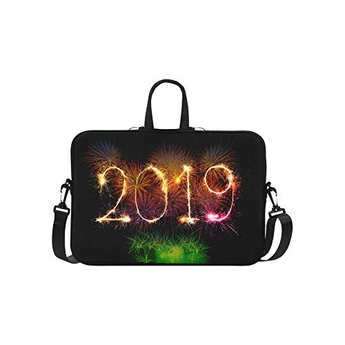 Happy New Year 2019 Colorful Fireworks Light up The Sky 15' Laptop Sleeve
