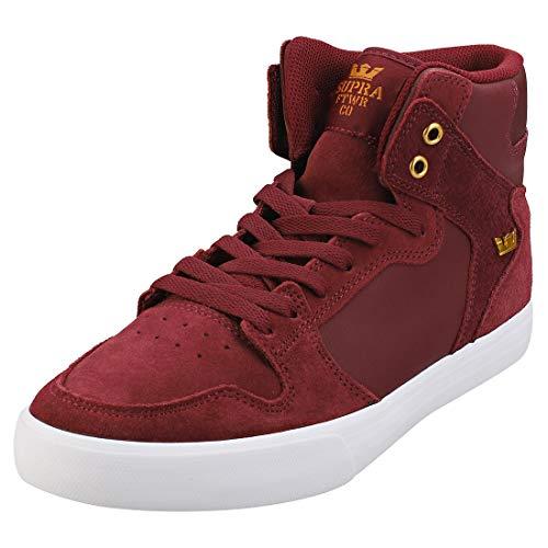 Supra Unisex-Erwachsene Vaider Hohe Sneaker, Rot (Wine-White-M 697), 42 EU