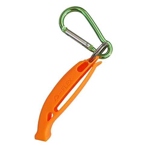Homyl Sifflet de Sécurité Signalisation Ultra-Fort avec Crochet pour Kayak Canotage Camping Randonnée Plongée - Orange, comme Décrit