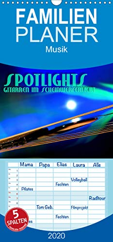 SPOTLIGHTS - Gitarren im Scheinwerferlicht - Familienplaner hoch (Wandkalender 2020 , 21 cm x 45 cm, hoch): Surreale Reflexionen des Bühnenlichts (Monatskalender, 14 Seiten ) (CALVENDO Kunst)