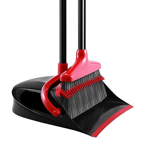 SFBBAO Escoba Ajuste El Polvo De Pie Vertical con Un Cepillo De Limpieza De Palo De Escoba Extensible como Muestra la Imagen Rojo