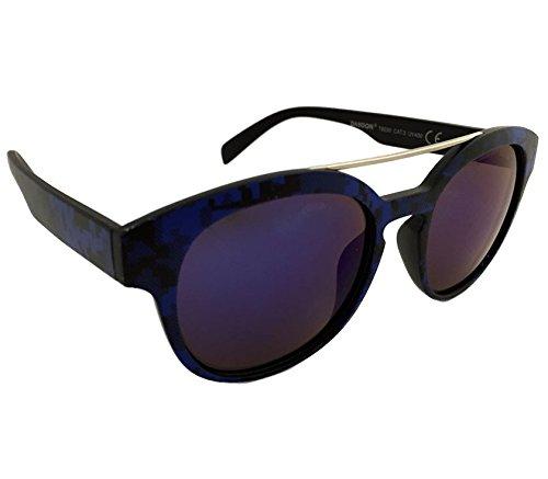 Dasoon Vision Gafas de Sol con Estampado geométrico en Color Azul