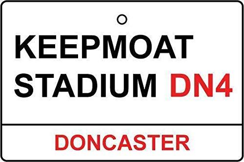HNNT Doncaster Keepmoat Stadion Straßenschild Auto-Lufterfrischer Metallschild 20,3 x 30,5 cm