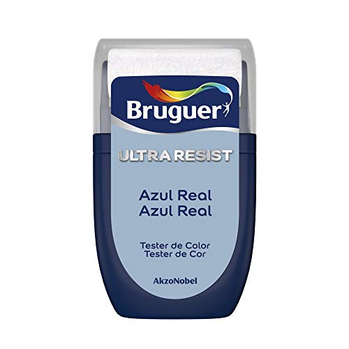 Bruguer Tester ULTRA RESIST Pintura para paredes ultra lavable Azul Real, 30 mililitros