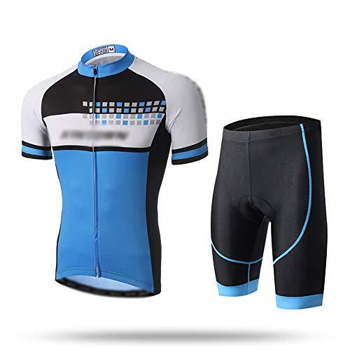 GONGMICF Hombre Secado Rápido Ropa Ciclismo,Maillot Ciclismo Corto,Bolsillos Reflectante Maillot Ciclismo+3D Acolchado...